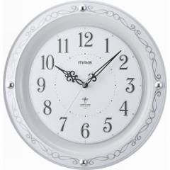 ノア精密 セルマン MAG アナログ電波掛時計 ホワイト W-664 WH