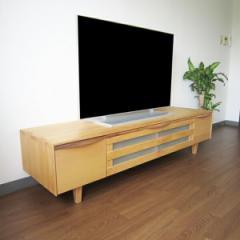 【アルダー】テレビボード 幅140cm(アルダー材、オイル塗装仕上げ))(代引不可)【送料無料】
