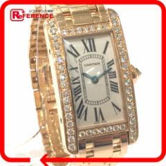 あす着 CARTIER カルティエ WB7079M5 腕時計 金無垢 アメリカンSM ダイヤベゼル タンク 腕時計