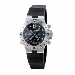 ブルガリ BVLGARI ディアゴノ プロフェッショナル スクーバ メンズ GMT SD38SVD ブラック/ブラックラバー 時計/ウォッチ