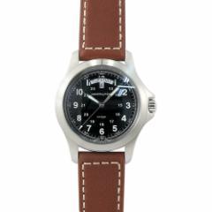 ハミルトン HAMILTON カーキ キング メンズ H64451533 ブラック/ブラウンレザー 時計/ウォッチ