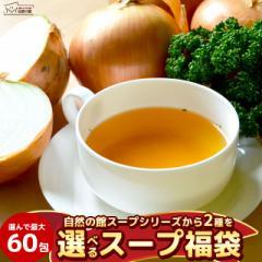 【自然の館SALE】最大60包 全9種類のスープから2種選べるスープ福袋 スープ 業務用 インスタント 玉ねぎ トマト 生姜 お菓子
