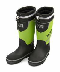 レインブーツ 長靴 男の子 キッズ 子供靴 ドローコード 反射材 防水 ノースウィング NORTH WING 137002 グリーン/コンビ