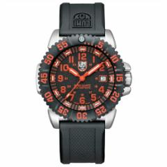 ルミノックスLUMINOX 腕時計 アナログ メンズウォッチ ネイビーシールズ カラーマークシリーズ 3165 ブラック/レッド(ラバーベルト)