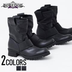 BOREDOM ボアダム ラグソール ドレープ ブーツ 全2色 メンズ 靴 シューズ ブラック ヌバック BITTER系 ビター系 trend_d 新作