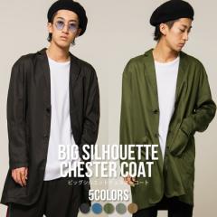 VICCI ビッチ ビッグシルエット チェスターコート 全5色 コート メンズ オーバーサイズ ストリート 韓国系 ファッション 大きめ oq