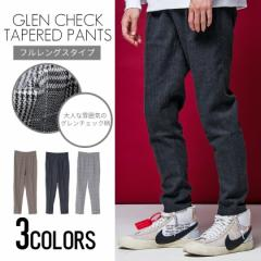 VICCI ビッチ グレンチェック柄 テーパード パンツ 全3色 スラックス メンズ アンクル丈 クロップド 細身 タイト モード ストリート bq
