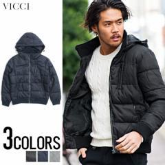 VICCI ビッチ ウールタッチ 中綿 ブルゾン 全3色 メンズ フード付き シンプル ストリート 無地 秋冬 防寒 ビター系 trend_d aqp
