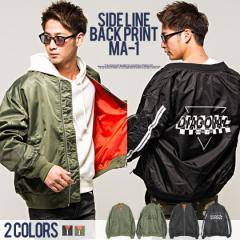 VICCI ビッチ サイドライン バックプリント MA-1 ジャケット 全2色 ma-1 メンズ ナイロン ストリート BITTER系 ビター系 trend_d oq
