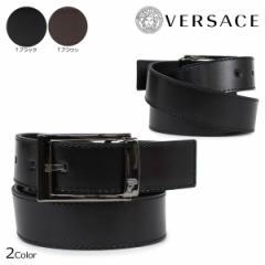 ヴェルサーチ ベルト VERSACE ベルサーチ メンズ 本革 レザーベルト ブラック ブラウン イタリア製 ビジネス V91178S [12/19 追加入荷]