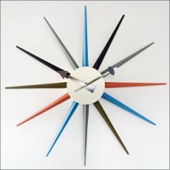 【送料無料】掛け時計 壁掛け ジョージ・ネルソン サンバーストクロック デザイナーズ リプロダクト 50cm 大型 巨大時計 おしゃれ 巨大
