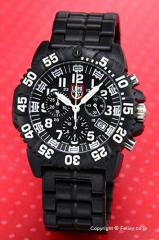 ルミノックス LUMINOX 腕時計 NAVY SEALs カラーマーク クロノグラフ ブラック 3082