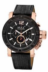 MAX XL WATCHES マックス 腕時計 The Chronograph (ザ クロノグラフ) ブラック×ローズゴールド 5-MAX674