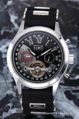 ゾンネ SONNE 腕時計 ゾンネ×ハオリ 岩城滉一 コラボレーションモデル ブラック×シルバー H016SS-BK
