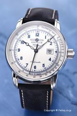 ツェッペリン 腕時計 メンズ LZ1 100周年記念モデル ヴィンテージシルバー 7654-4
