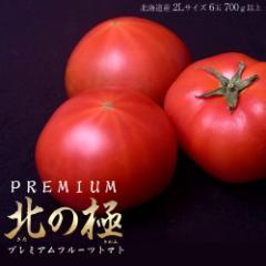 お中元・ギフト 北海道産  北の極 プレミアムフルーツトマト 6玉 700g以上 ※冷蔵