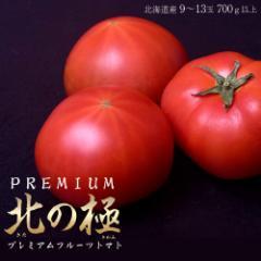 お中元・ギフト 北海道産  北の極 プレミアムフルーツトマト 9〜13玉 700g以上 ※冷蔵