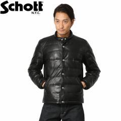 Schott ショット 3161049 LIGHT レザーダウンジャケット