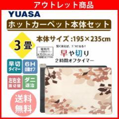 【送料無料】【ホットカーペット 3畳】ユアサ ホットカーペット本体セット YSC-30ST-MNP 3畳