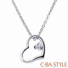 C-BA STYLE (シーバスタイル) ~First ファースト~ ネックレス レディース ハート キュービック ジルコニア シルバー カラー メール便