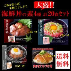 海鮮丼20食セット(マグロ漬け5p+ネギトロ5P+びん...