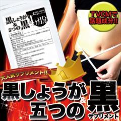 黒しょうが&5つの黒サプリ約4ヵ月分/ダイエット/サプリ/送料無料/ネコポス(メール便)