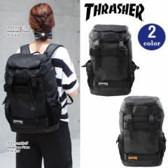 THRASHER スラッシャー バッグ リュック THRPN-8900 ボードバックパック かぶせ ダブルベルト サイドメッシュポケット付き ag-853800