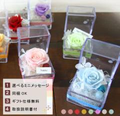【同梱OK】キラキラ☆プチプリザinキューブ〜8カラーから選んでね【プリザーブドフラワー プレゼント 女性 ブリザードフラワー】
