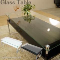 ガラステーブル 2色対応 スタイリッシュ ガラステーブル 強化ガラス 飛散防止シート クローム
