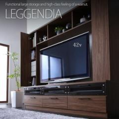 【代引不可】 ハイタイプテレビボード 豊富な収納エリアに充実した機能性 ハイタイプ テレビ