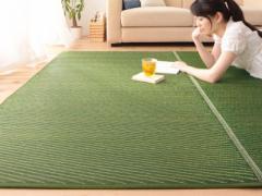 【代引不可】 国産 ふっくらい草ラグ 140×200cm 5色対応 5色から選べる国産い草ラグ♪ 140×200cm い