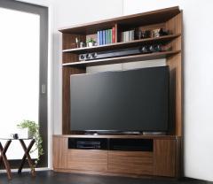 木目鏡面仕上げハイタイプテレビボード cc418