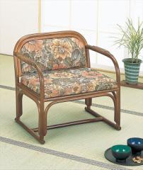 籐便利座椅子 S-112B ブラウン 籐 籐家具 座椅子 椅子 イス 和風リビングルーム籐 ラタン 製 輸入