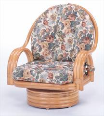 回転座椅子ミドルタイプ S-582 ライトブラウン 籐 籐家具 座椅子 椅子 イス 回転式 和風リビング