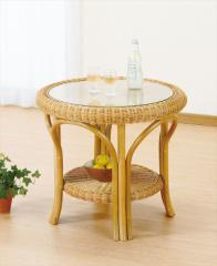 テーブル T-127 ライトブラウン 籐 籐家具 テーブル センターテーブル リビングテーブル アジア