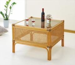 テーブル T-148 ライトブラウン 籐 籐家具 テーブル センターテーブル リビングテーブル アジア