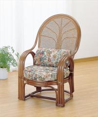 アームチェアー TK-667B ブラウン 籐 籐家具 座椅子 椅子 イス アジアンリビングルーム籐 ラタン