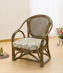 アームチェアー Y-41B ブラウン 籐 籐家具 座椅子 椅子 イス アジアンリビングルーム籐 ラタン