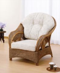 アームチェアー Y-161 ブラウン 籐 籐家具 座椅子 椅子 イス アジアンリビングルーム籐 ラタン