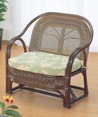 ワイドアームチェアー Y-501B ブラウン 籐 籐家具 座椅子 椅子 イス アジアンリビングルーム籐