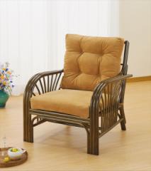 アームチェアー Y-631B ブラウン 籐 籐家具 座椅子 椅子 イス アジアンリビングルーム籐 ラタン