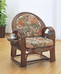 アームチェアー Y-660B ブラウン 籐 籐家具 座椅子 椅子 イス アジアンリビングルーム籐 ラタン