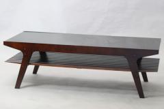 【代引不可】 LORIAテーブル ブラウン ガラス センター ロー テーブル スタイリッシュ リビング