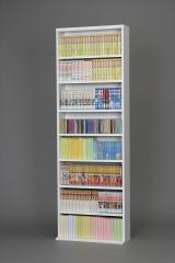 【代引不可】 文庫本棚 ホワイト シェルフ リビング 収納 収納棚 本棚 コミックラック シンプ