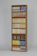 【代引不可】 文庫本棚 木目 ブラウン シェルフ リビング 収納 収納棚 本棚 コミックラック シ