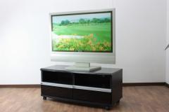 【代引不可】 ハルクTV台 ブラック TV台 テレビ台 AV収納 TVボード テレビボード スタイリッシ
