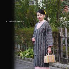 菱衿 和装コート「グリーングレー」 紗女心 着物コート ロングコート[送料無料]