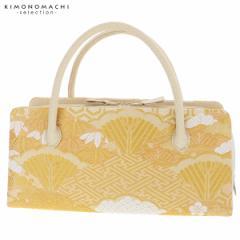 礼装 和装バッグ 利休バッグ 「ゴールド 吉祥雪輪重ね」 日本製