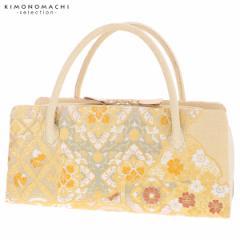 礼装 和装バッグ 利休バッグ 「ゴールド 蜀江文、雪輪重ね」 日本製