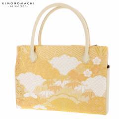 礼装 和装バッグ ダブルファスナー「ゴールド 吉祥雪輪重ね」 日本製